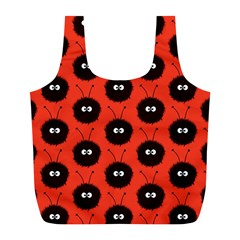 Red Cute Dazzled Bug Pattern Reusable Bag (l)