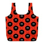 Red Cute Dazzled Bug Pattern Reusable Bag (L) Back