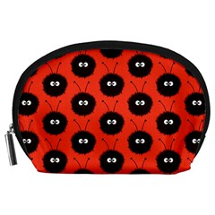Red Cute Dazzled Bug Pattern Accessories Pouch (Large)