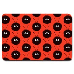 Red Cute Dazzled Bug Pattern Large Door Mat