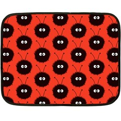 Red Cute Dazzled Bug Pattern Mini Fleece Blanket (Two Sided)