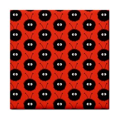 Red Cute Dazzled Bug Pattern Ceramic Tile