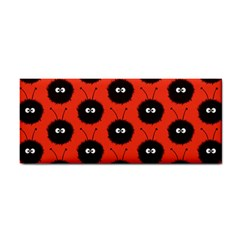 Red Cute Dazzled Bug Pattern Hand Towel