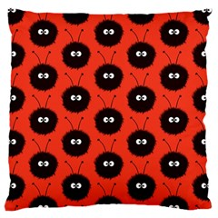 Red Cute Dazzled Bug Pattern Large Cushion Case (two Sided)