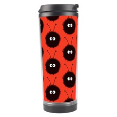 Red Cute Dazzled Bug Pattern Travel Tumbler