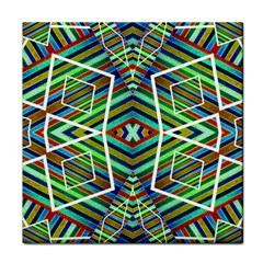 Colorful Geometric Abstract Pattern Ceramic Tile