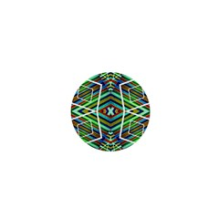Colorful Geometric Abstract Pattern 1  Mini Button Magnet