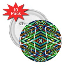 Colorful Geometric Abstract Pattern 2 25  Button (10 Pack)