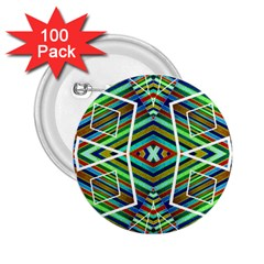Colorful Geometric Abstract Pattern 2.25  Button (100 pack)