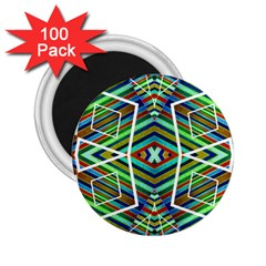 Colorful Geometric Abstract Pattern 2.25  Button Magnet (100 pack)