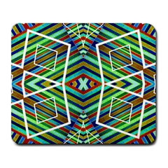 Colorful Geometric Abstract Pattern Large Mouse Pad (rectangle)