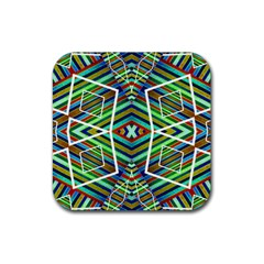 Colorful Geometric Abstract Pattern Drink Coaster (square)