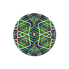 Colorful Geometric Abstract Pattern Drink Coaster (Round)
