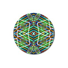 Colorful Geometric Abstract Pattern Magnet 3  (Round)