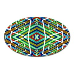 Colorful Geometric Abstract Pattern Magnet (Oval)