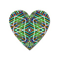Colorful Geometric Abstract Pattern Magnet (heart)