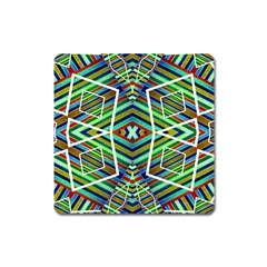 Colorful Geometric Abstract Pattern Magnet (Square)