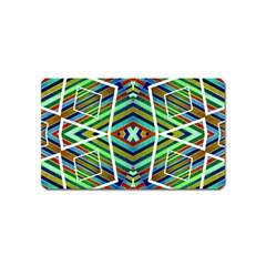 Colorful Geometric Abstract Pattern Magnet (Name Card)