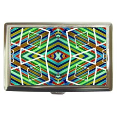 Colorful Geometric Abstract Pattern Cigarette Money Case