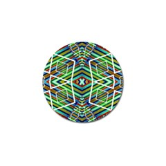 Colorful Geometric Abstract Pattern Golf Ball Marker