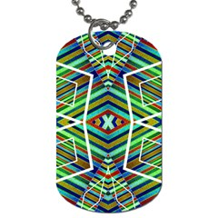 Colorful Geometric Abstract Pattern Dog Tag (two Sided)