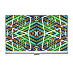 Colorful Geometric Abstract Pattern Business Card Holder