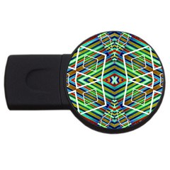 Colorful Geometric Abstract Pattern 2gb Usb Flash Drive (round)