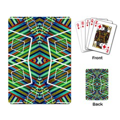 Colorful Geometric Abstract Pattern Playing Cards Single Design