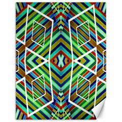 Colorful Geometric Abstract Pattern Canvas 12  x 16  (Unframed)