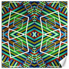 Colorful Geometric Abstract Pattern Canvas 16  X 16  (unframed)