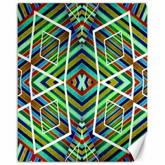 Colorful Geometric Abstract Pattern Canvas 16  x 20  (Unframed)