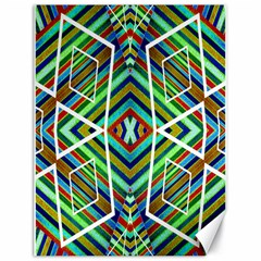 Colorful Geometric Abstract Pattern Canvas 18  X 24  (unframed)
