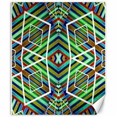 Colorful Geometric Abstract Pattern Canvas 20  x 24  (Unframed)