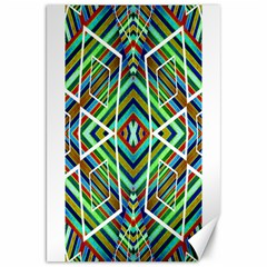 Colorful Geometric Abstract Pattern Canvas 20  x 30  (Unframed)