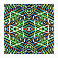 Colorful Geometric Abstract Pattern Glasses Cloth (Medium, Two Sided)