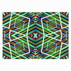 Colorful Geometric Abstract Pattern Glasses Cloth (Large)