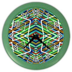 Colorful Geometric Abstract Pattern Wall Clock (Color)
