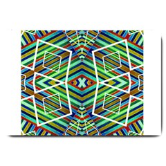 Colorful Geometric Abstract Pattern Large Door Mat