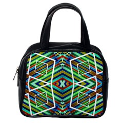 Colorful Geometric Abstract Pattern Classic Handbag (one Side)