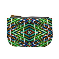 Colorful Geometric Abstract Pattern Coin Change Purse