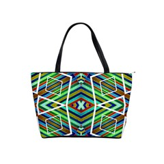 Colorful Geometric Abstract Pattern Large Shoulder Bag