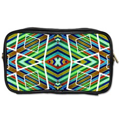 Colorful Geometric Abstract Pattern Travel Toiletry Bag (two Sides)