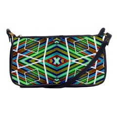 Colorful Geometric Abstract Pattern Evening Bag
