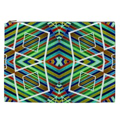 Colorful Geometric Abstract Pattern Cosmetic Bag (xxl)