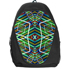 Colorful Geometric Abstract Pattern Backpack Bag