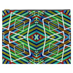 Colorful Geometric Abstract Pattern Cosmetic Bag (XXXL)