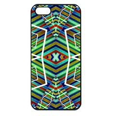 Colorful Geometric Abstract Pattern Apple Iphone 5 Seamless Case (black)