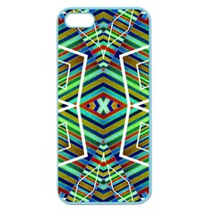 Colorful Geometric Abstract Pattern Apple Seamless Iphone 5 Case (color)