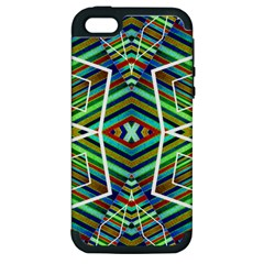 Colorful Geometric Abstract Pattern Apple Iphone 5 Hardshell Case (pc+silicone)