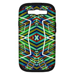 Colorful Geometric Abstract Pattern Samsung Galaxy S Iii Hardshell Case (pc+silicone)